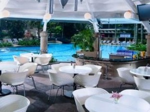 Gazebo poolside restaurant