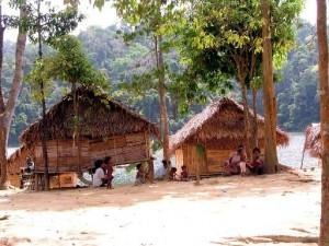 Temenggor Lake Orang Asli Village
