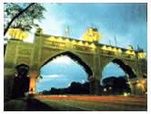 Kota Ehsan Gateway Arch night view