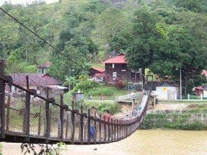 Sungai Lembing hanging bridge