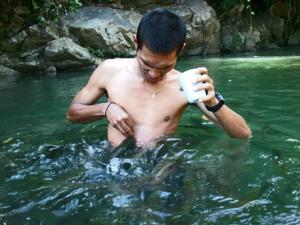 'Tagal' Sungai Moroli, Kampung Luanti