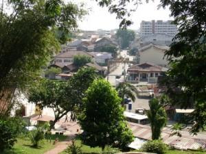 bukit cina hill top view