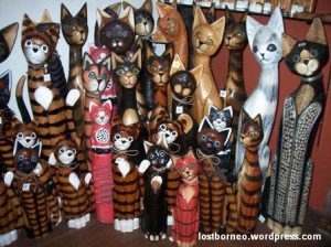 Kuching Cat Museum wooden cats