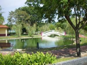 Miri City Fan Park lake