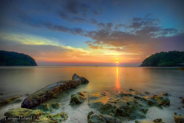 Tenggol Island sunset