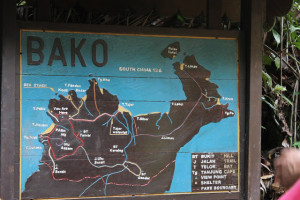 Bako National Park information board