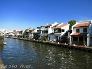 Buildings surrounding Melaka River