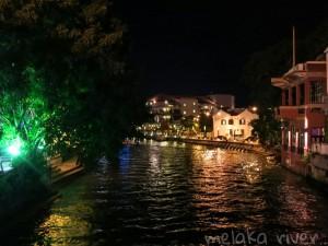 Melaka river at night