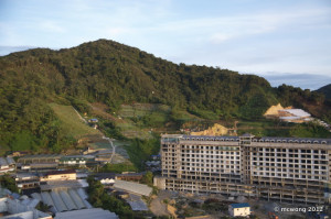 Mountain view from equatorial hotel