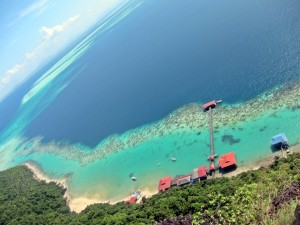 Pulau Bohey Dulang hill top view