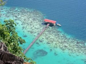 Pulau Bohey Dulang hill top view
