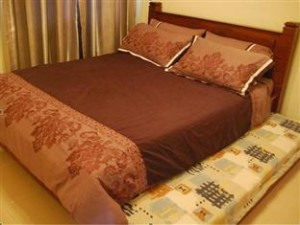 Queen with single pullout bed
