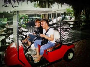 Rawa Island Jetty buggy service