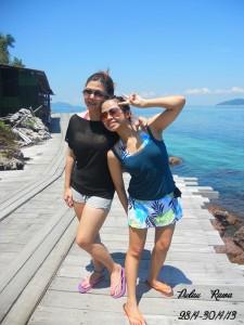 Rawa Island beach girls
