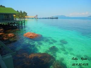 Rawa Island crystal clear water