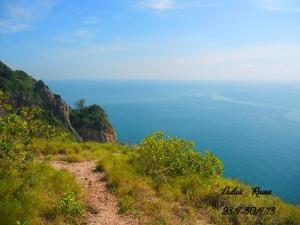 Rawa Island hill overlooking beautiful sea