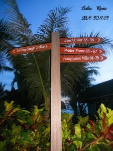 Rawa Island resort sign board