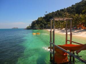Rawa Island sea view from water chute