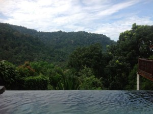 The Dusun mountain view