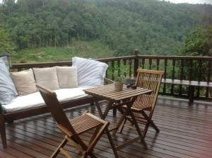 The Dusun room balcony