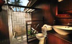 Deluxe chalet bathroom