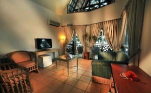 Deluxe chalet living room