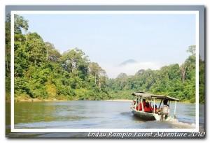Endau river boat ride