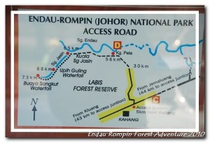 Kahang Endau Rompin National Park map