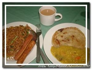 breakfast in endau rompin national park