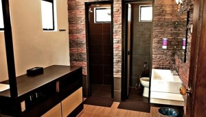 Coral Redang Island superior room shower & dressing area