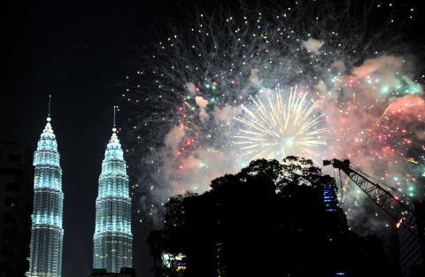 Merdeka Square fireworks