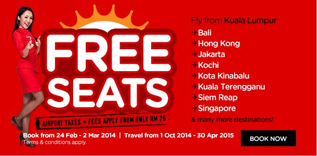 Airasia 2014 free seat promotion