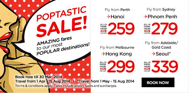 AirAsia Australia Popstatic Sale Promotion