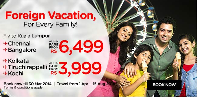 AirAsia India Foreign Vacation for Every Family Promotion