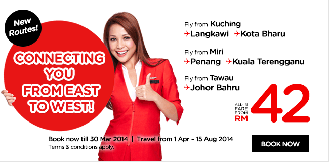 AirAsia Malaysia Connecting You From East To West Promotion