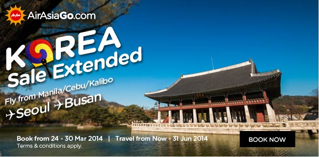 AirAsia Philippines Korea Sale Extended Promotion