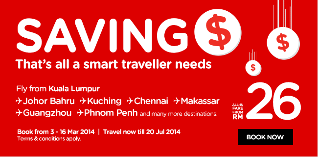 airasia saving money promotion 2014