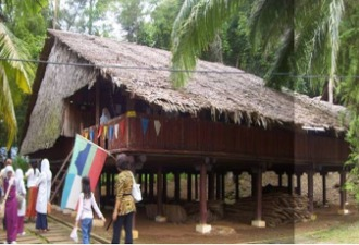 Kadazan style folk-houses