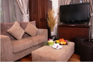 sibu island resort honeymoon suite living room