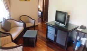 sibu island resort layang layang suite living room