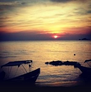 Sunset at Senja Bay Resort