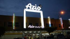 azio hotel front night view