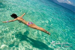 Snorkeling in Tioman Coral Island