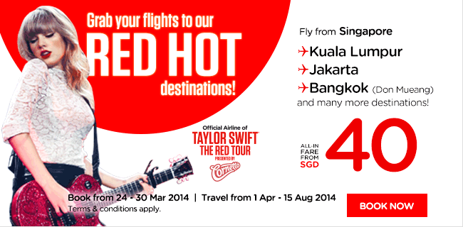 AirAsia Singapore Red Hot Promotion