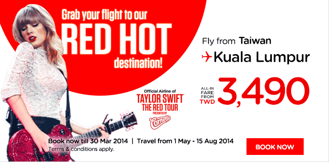 AirAsia Taiwan Red Hot Promotion