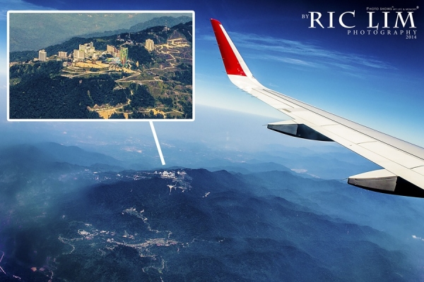 Genting highland view from flight